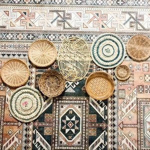 Vintage Boho Basket Wall Art Set